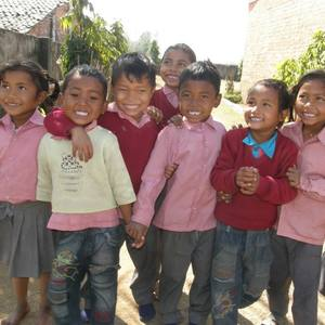 Kids from the Tikapur Children's Home