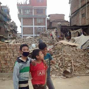 Life goes on amid the destruction in Bhaktapu